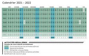 Calendrier des activités 2021 2022